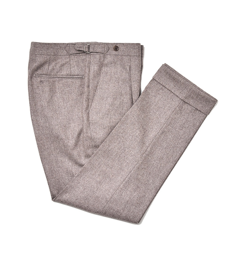 Canonico Flannel pants - Dark Beige