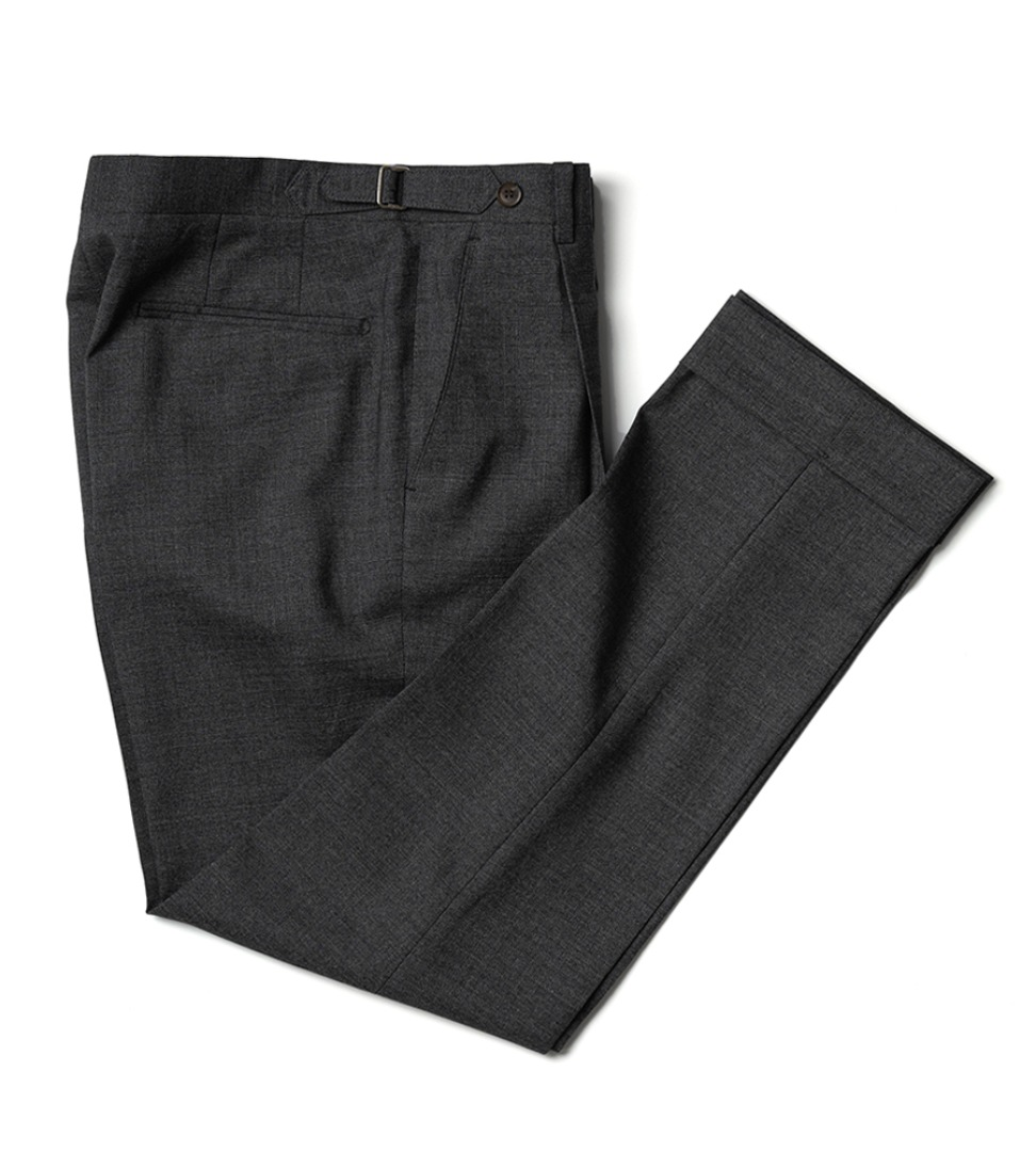 Canonico 2PLY fresco pants - Dark grey (Natural Stretch)