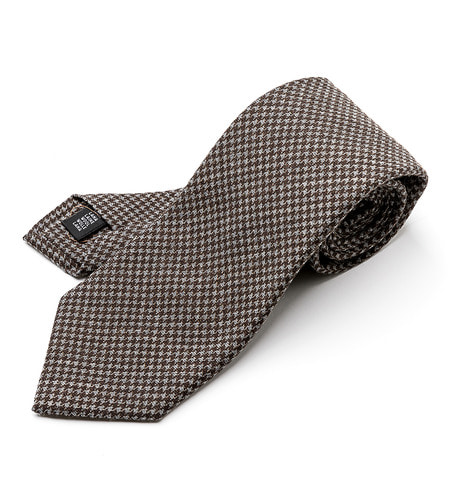 Houndtooth tie (Brown)